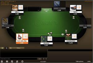 screenshot of borgata poker no deposit bonus gameplay